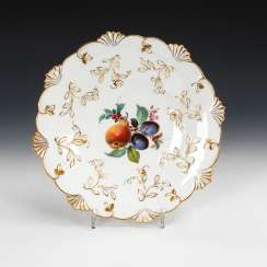 Relief bowl with fruit painting, MEISSEN