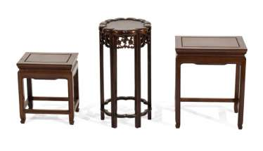 THREE SIDE TABLES, CHINA,