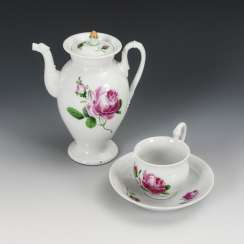 "Jug, cup and saucer ""Red Rose"""