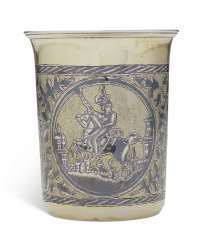 A RUSSIAN SILVER-GILT AND NIELLO BEAKER