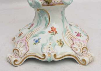 MEISSEN PORCELAIN TWO CANDLE HOLDER