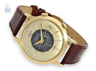 Watch: rare automatic 18K bracelet-alarm clock, Gübelin/Le Coultre Ipsovox world time calibre 825, 1960