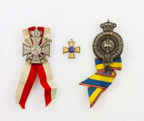 2 war club awards - Brunswick Landwehr Association with the jubilee cross for 50 years with the Band, as well as