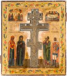 STAUROTHEKE ICON WITH THE CRUCIFIXION OF CHRIST