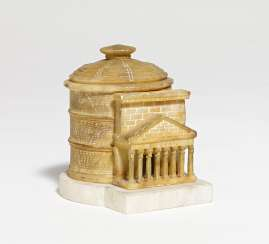 Small alabaster Pantheon with lid