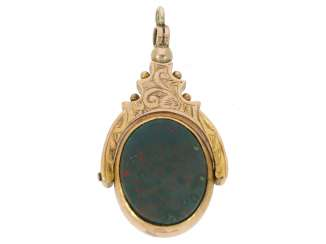 Pendant: Antique watch chain seal pendant made of Gold, around 1900