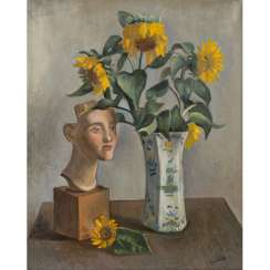 "COUBINE, OTHON (also Otakar Kubin; 1883-1967), ""Still life with a bust and sunflowers in a vase"","