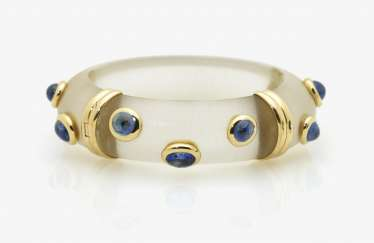 Bangle with sapphires, Italy