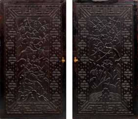 Pair of Chinese door elements