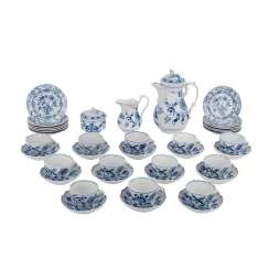 TEICHERT/CITY of Meissen coffee service for 12 persons, 20. Century