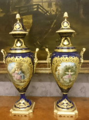 Pair of French vases 19th century