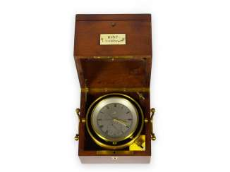 Marine chronometer: high-quality, extremely rare Louis Le Roy Paris marine chronometer with 49h power reserve, No. 1037, CA. 1900