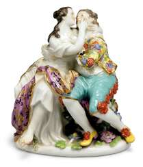 A MEISSEN PORCELAIN GROUP OF LOVERS