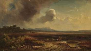 Campagna landscape with figure staffage