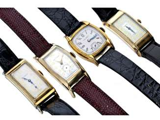 Watch: group of 4 exceptional American Art Deco watches