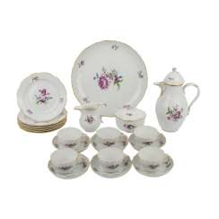 MEISSEN coffee service for 6 persons
