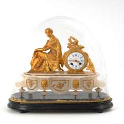 Great characters-clock with glass globe.