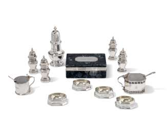 A GROUP OF ELIZABETH II CONDIMENT ITEMS