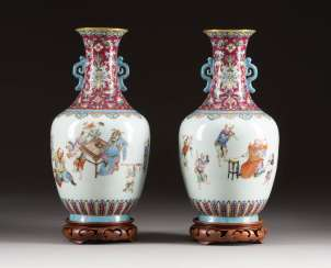 PAIR OF VASES WITH FIGURAL SCENES China