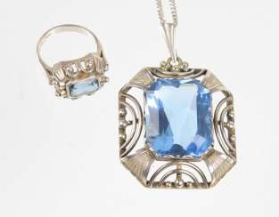 Art Deco pendant & Ring