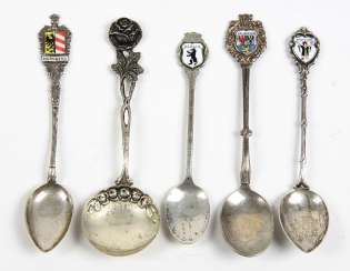 Silver spoon with enamel and other