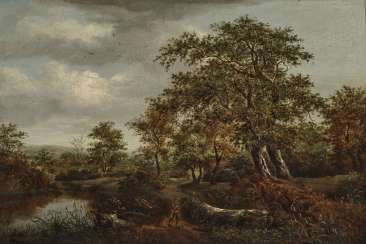 Tree landscape with figure staffage