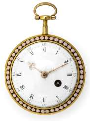 Gold Enamel Pocket Watch. Name Of Dingwall & Co., Llndon, England, 18. Century