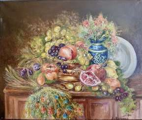 "Author's painting ""Still life with fruit"""