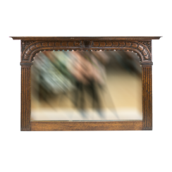 Wall mirror in oak frame from the late nineteenth century
