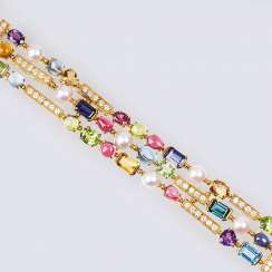 Color and gemstone bracelet 'Allegra'
