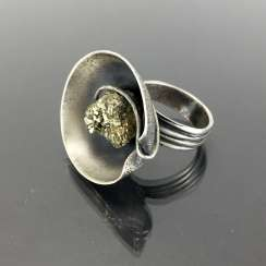 Designer Ring with pyrite.