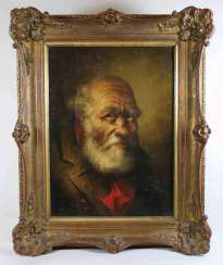 German painter of the 20th century, portrait of an old man