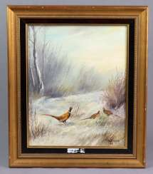 Pheasants in winter forest - Erxleben, H. 1986