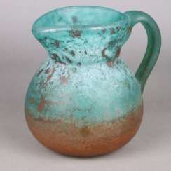 Decorative glass jug