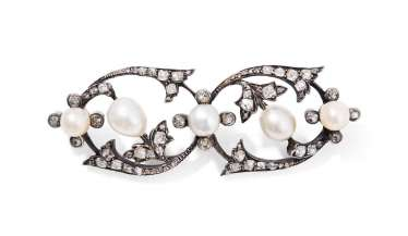 Perles Naturelles De Diamant Broche