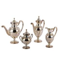ITALY 4 piece coffee/Teekern in the Empire style, after 1968