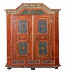 Rural hall cupboard in Baroque style, 1st half of the 19th century