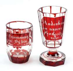 2 souvenir glasses in order to 1860