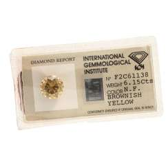 Loser Brillant Fancy Brownish Yellow, 6,15 ct,