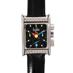 ALAIN SILBERSTEIN Bolido Krono watch. Stainless steel case with see-through back.