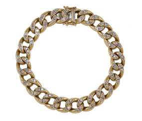 Diamond Bracelet 585 Yellow Gold.