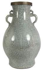 CELADON-COLORED VASE WITH 'GE'-