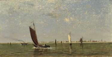 Dutch landscape with boats