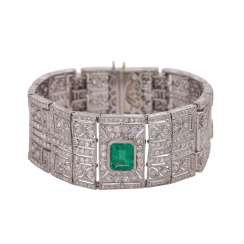 Art Deco bracelet fully paved with octagonal diamonds, together approx. 20 ct,