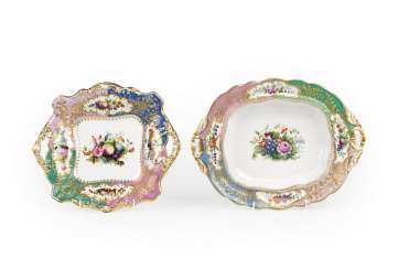 A Pair of Fruit Bowls from the Grand Duke Mikhail Pavlovich Service
