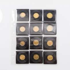 Empire/GOLD - Lot with 10 x 20 gold marks and 2 x 10 Goldmark,