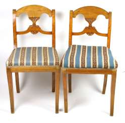 Biedermeier chair Pair around 1840