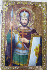 The icon of John the warrior of the XIX-th century