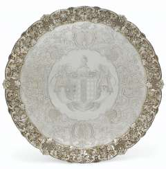 A GEORGE IV SILVER LARGE SALVER