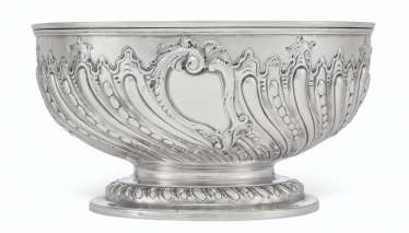 A WILLIAM IV SILVER PUNCH BOWL